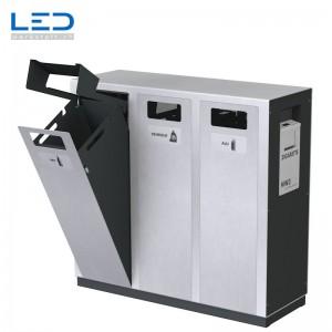 Recclingstation, W3-Abfalltrenner, Wertstoffbehälter, Abfalltrennung Outdoor, Draussen
