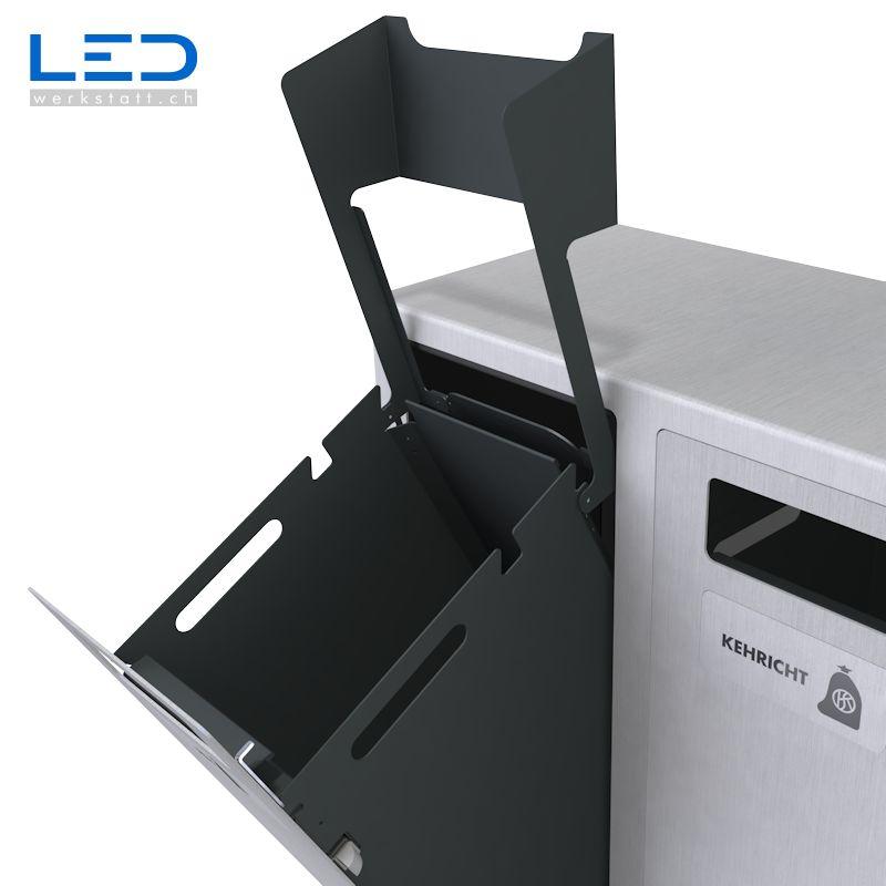 W3-Abfalltrenner, Wertstoffbehälter, Abfalltrennen im Aussenraum, Draussen