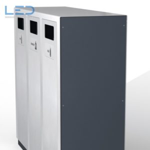Wertstoffbehälter W3, Recycling Station, Abfalltrennbehälter, Public Waste bins, Poubelle Recyclage, Abfallbehälter