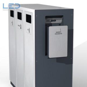 Wertstoffbehälter W3, Abfalltrennbehälter, Abfallbehälter, Recyclingbehälter, Recyclingstation, Public Waste bins, Poubelle Recyclage, Abfallbehälter