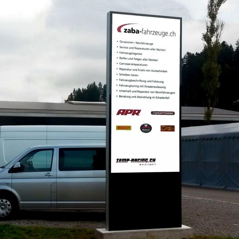 Bildergebnis für Zaba-Fahrzeuge LED Stele, Pylone, Leuchtreklame