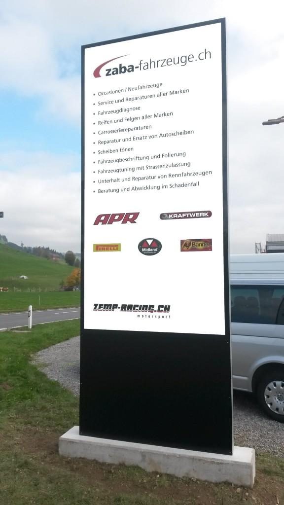 Zaba-Fahrzeuge Leuchtkasten, ZABA Leuchtreklame Echolzmatt, Leuchtkasten, landscape furniture