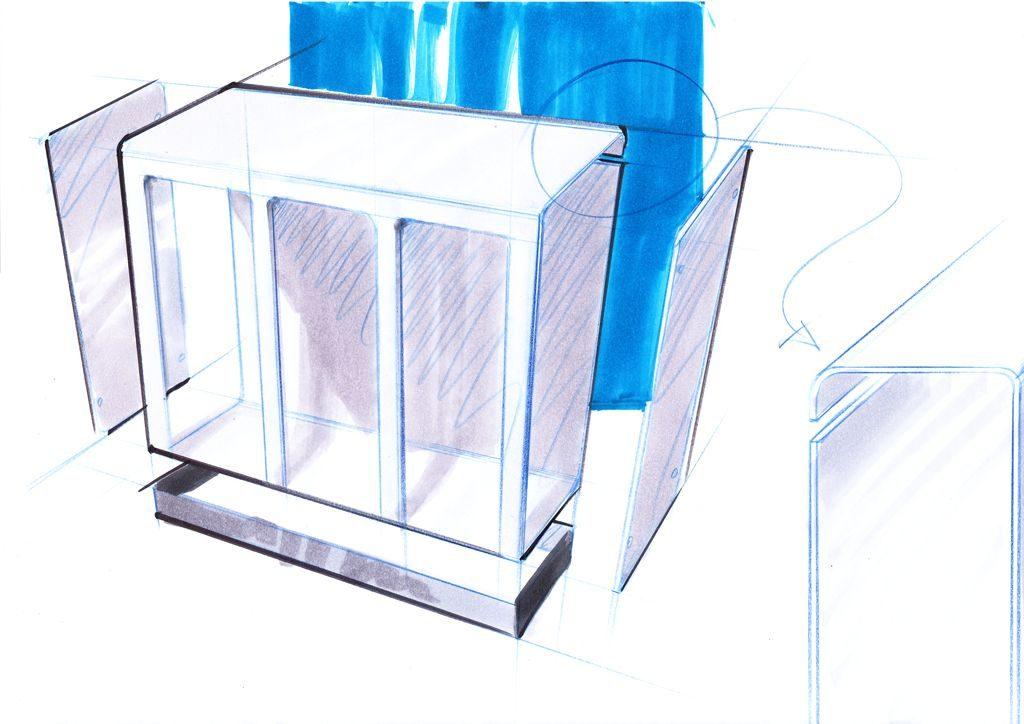 Recycling Station Design Aussenbereich, Recyclingstation, Abfallbehälter Edelstahl, Wertstoffbehälter, Schweiz, landscape furniture