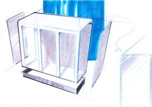 Recyclingstation Design Aussenbereich, Recycling Station, Abfallbehälter Edelstahl, Wertstoffbehälter, Schweiz
