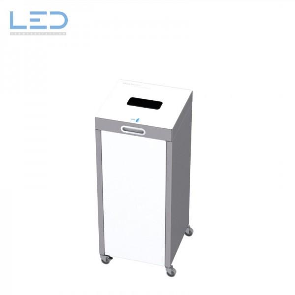 Abfallbehälter 110l für schweizer Abfallsäcke, PET, auf Rollen