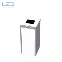 Recyclingstation, Abfallbehälter Multilith, Kehricht mit Schweizer Abfallsäcken 110l