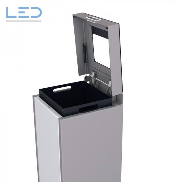 Wertstoffbehälter, Abfall Trenner, Recycling Station, Waste Bin, Entsorgungs Behälter