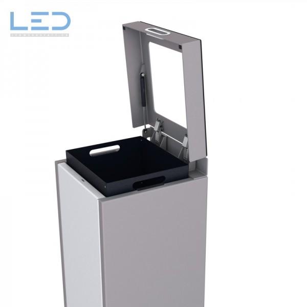 Papiersammler, Recyclingbox, Wertstoffbehälter, Abfall Trenner, Recycling Station, Waste Bin, Entsorgungs Behälter
