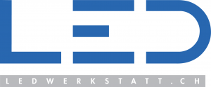 LED Werkstatt GmbH Logo, Hersteller von Raummobiliar, Leuchtreklamen, Abfall- und Wertstoffbehältern, Steckdosensäulen und LED Mobiliar