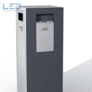 Abfalleimer Edelstahl, Wertstoffbehälter W1, Abfallbehälter, Recycling Station, Mülleimer, Recyclingstation, Waste bin, Edelstahl, Swissmade