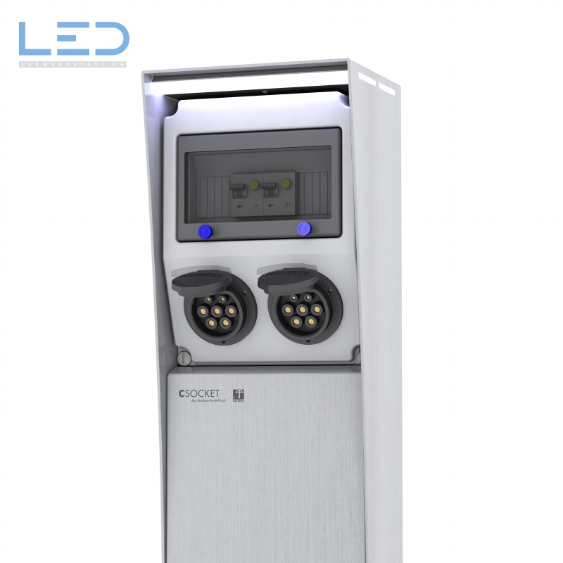 E-Ladestation, E-Mobility Säule IP67, charging column, loading column,, Ladesäule Typ 2 Steckdose , Elektroauto Ladestation, Plugs, charging column, loading column,