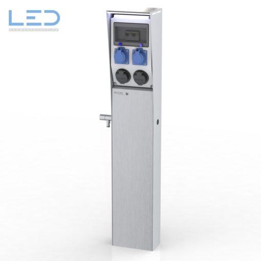 Energiesäule E-Mobility, E Mobility Tankstelle, Ladesäule, Stromtankstelle, Stromsäule, Säule IP67, Typ 2 Steckdose , Elektroauto Ladestation, Plugs for the World, charging column, loading column,