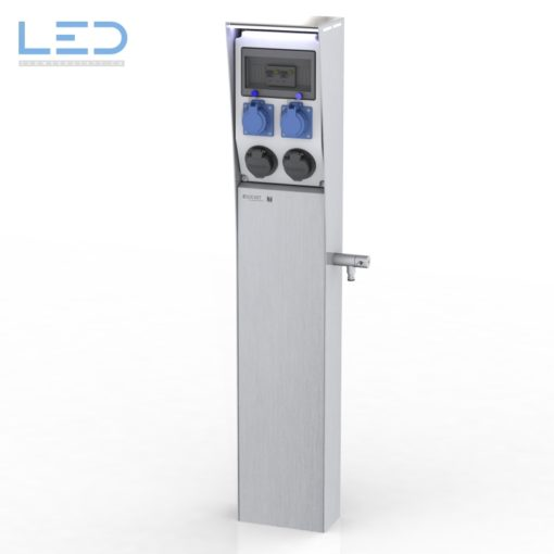 Ladestation E-Mobility, E Mobility Tankstelle, Stromtankstelle, E-Mobility Säule IP67, Ladesäule, Typ 2 Steckdose, Elektroauto Ladestation, Plugs for the World, charging column, loading column,