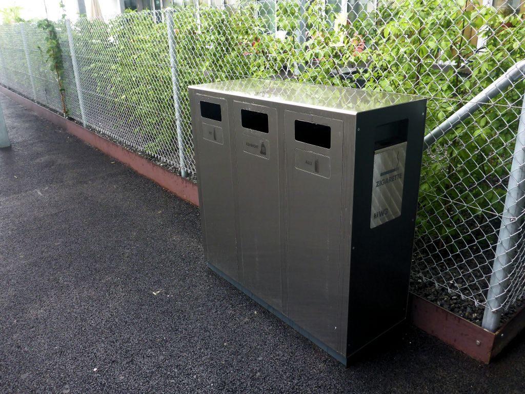 recycling supplies, W3 Wertstoffbehälter, Wertstoffsystem, Abfallbehälter, Recycling Station, Schweiz, waste management, Public Waste bins, Poubell recyclage, landscape furniture