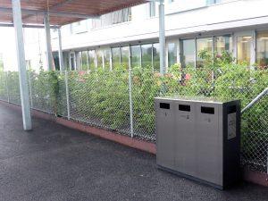 Public Waste Bin, W3 Recycling System, Wertstoffbehälter, Abfallbehälter, Recycling Station, Abfallbehälter, Edelstahl, Schweiz, waste management, Public Waste bins, Poubell recyclage