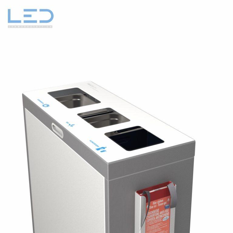 Recyclingstation Multilith 3.0, Wertstoffbehälter, Abfalltrenner