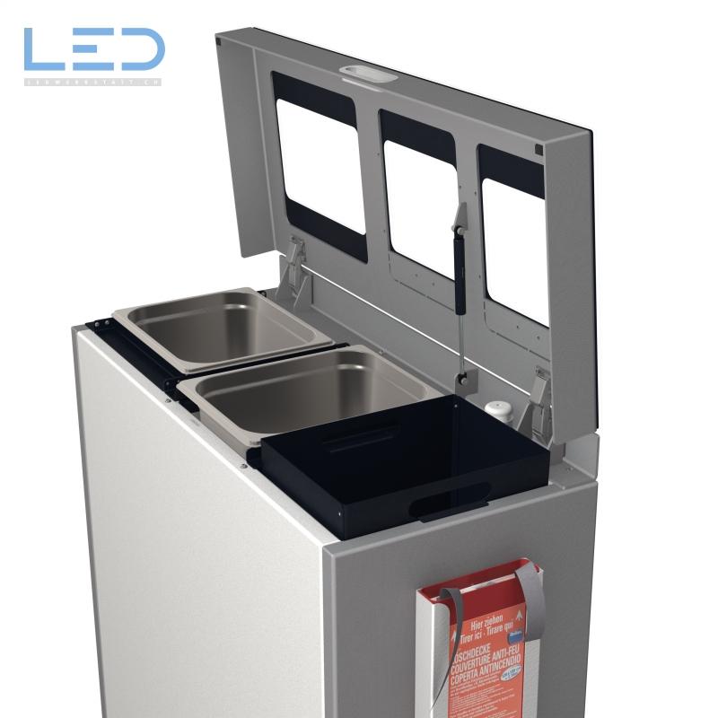 Recyclingstation, Multilith 3.0, Wertstoffbehälter, Abfalltrenner