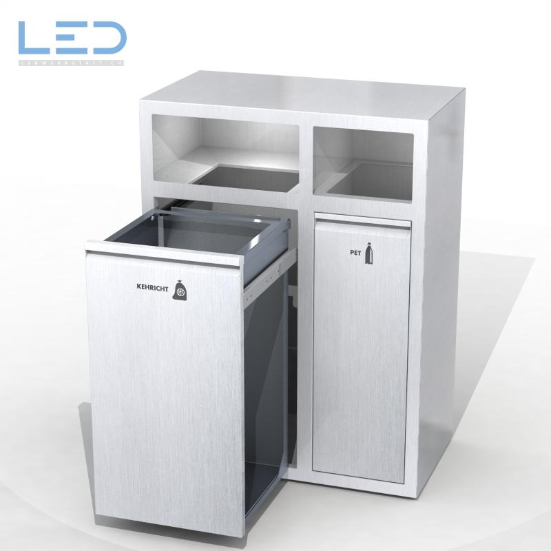 Bildergebnis für Recyclingstation, Edelstahl, Wertstoffbehälter, Entsorgungsstation, Abfalltrennbehälter, Recycling Station, Recyclingbehälter, Abfalltrennung, Gastro, Restaurant, Kantine