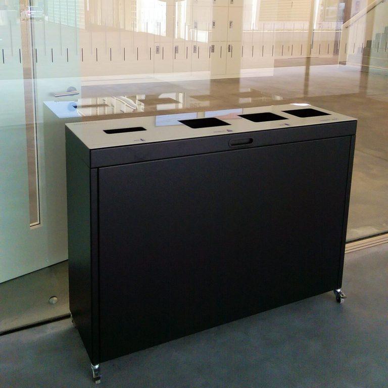 Recyclingstation-BBZ-SO, 110lt , Wertstoffbehälter, Entsorgungsbox, Entsorgungsstation, Abfallbehälter, Trennbehälter