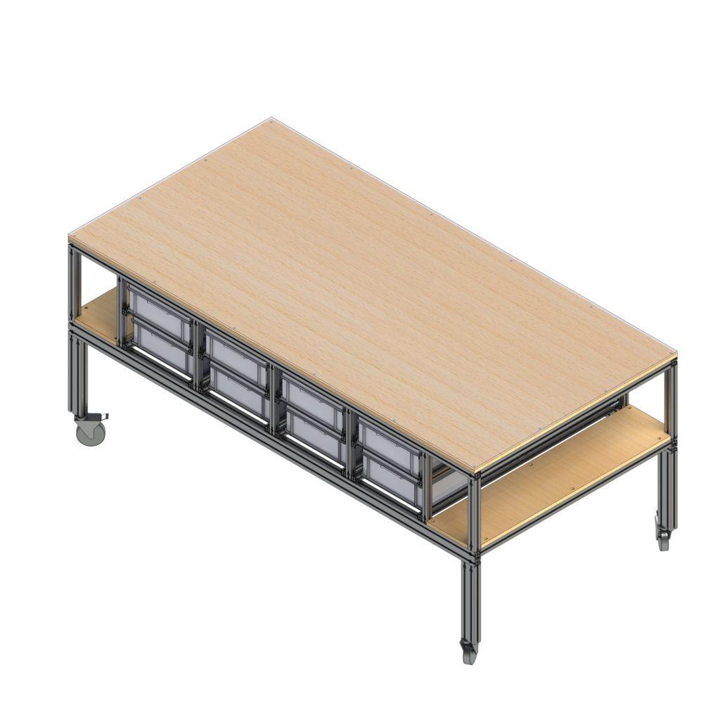 Montagetisch, Arbeitstisch, Werkstatteinrichtung, Werkstatttisch, Werkbank