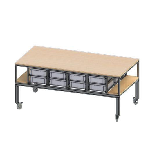 Arbeitstisch, Montage Tisch, Werkbank, Industrietisch, Montagetisch