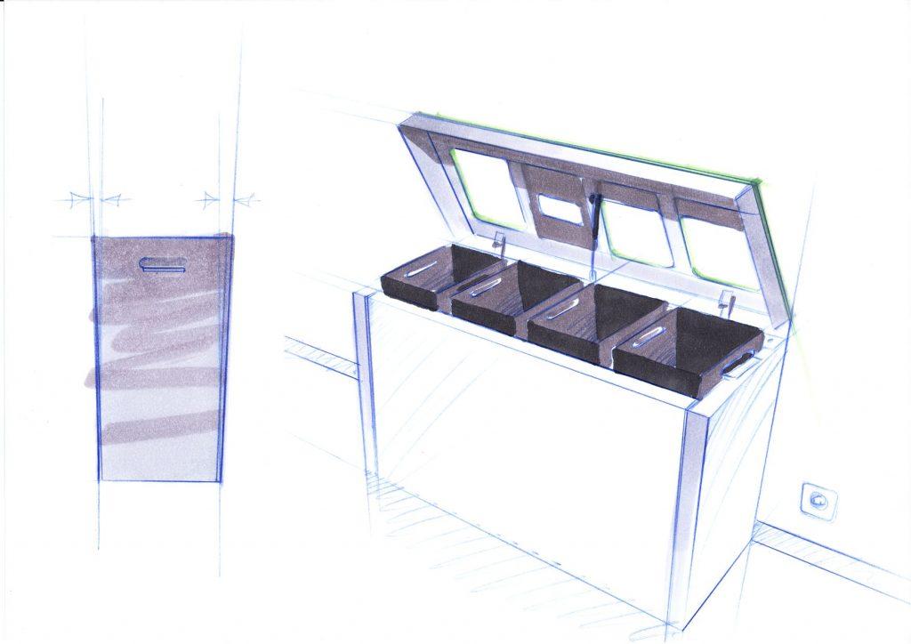 Design Recyclingstation, was wir alles berücksichtigt haben