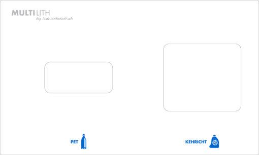 ESG Glas, Abdeckung zu Multilith 2.0, PET, Abfall, Recyclingstation