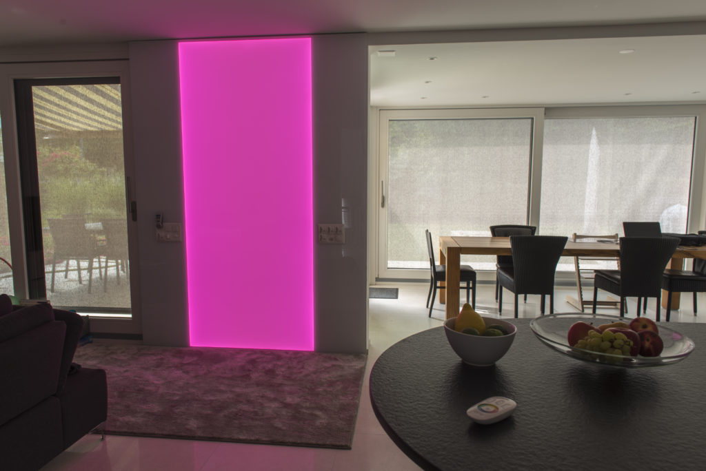 rgb led leuchtwand led werkstatt gmbh. Black Bedroom Furniture Sets. Home Design Ideas
