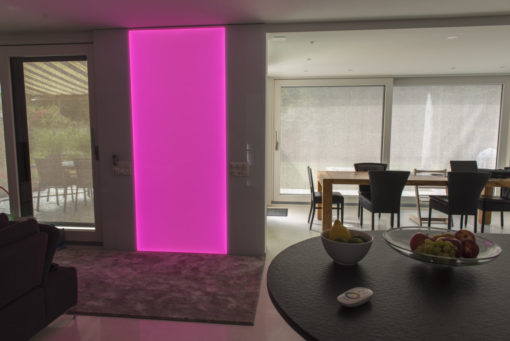 RGB LED Leuchtwand, Flachleuchte, LED, Deko, Leuchte, Wandleuchte, Wandbeleuchtung