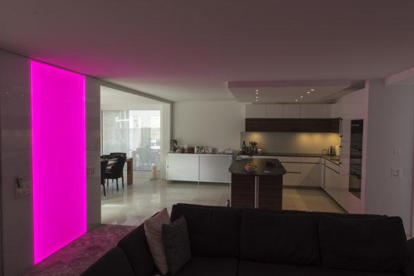 RGB Leuchtwand, Flachleuchte, LED, Deko, Leuchte, Wandleuchte, Wandbeleuchtung
