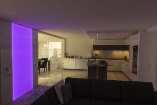 RGB Leuchtwand, LED RGB Flachleuchte, LED, Deko, Leuchte, Wandleuchte, Wandbeleuchtung