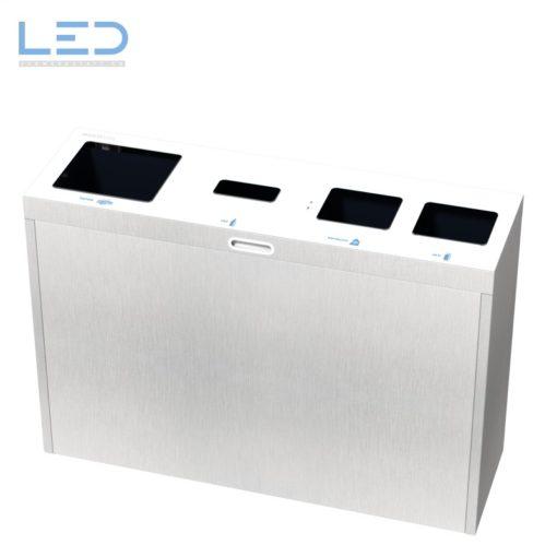 Recyclingstation Multilith Edelstahl, Wertstoffbehälter, Waste Bin, Abfalltrenner, Abfalltrennstation, Recycling Station, Abfalleimer,