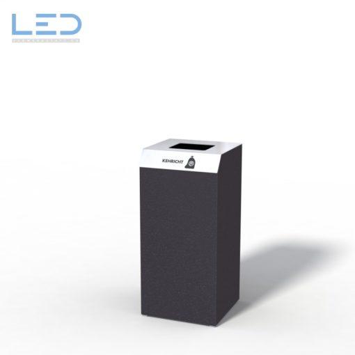 Recyclingstation C1-Bin, Design Abfallbehälter, Wertstoffbehälter, Waste Bin, Abfalltrenner, 110l, Edelstahl, Schwarz, DB703, Recycling Station, Büro, Innen, Drinnen, Innenraum, Entsorgung, waste management, Abfalleimer,