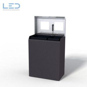 Recyclingstation CC-Bin, Wertstoffbehälter