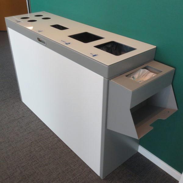 Multilith, EWZ, Recyclingstation, Wertstoffbehälter, PET, Abfall, Alu, PET, Papier, Recycling Station, Recyclingsystem, Zürich, Poubelle, Waste bin, Entsorgung, Abfallbehälter, Büro, Innen, Drinnen