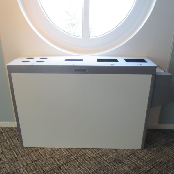 Multilith, Recyclingstation, Wertstoffbehälter, PET, Abfall, Alu, Papier, Recycling Station, Recycling Stationen, Zürich, Poubelle, Waste bin, Entsorgung, Abfallbehälter, Büro, Innen, Drinnen