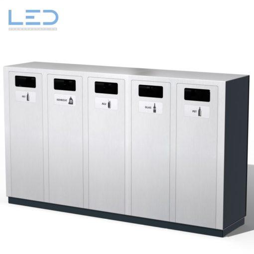 Recyclingstation W5, Abfalleimer, Abfallbehälter, Wertstoffbehälter, landscape furniture