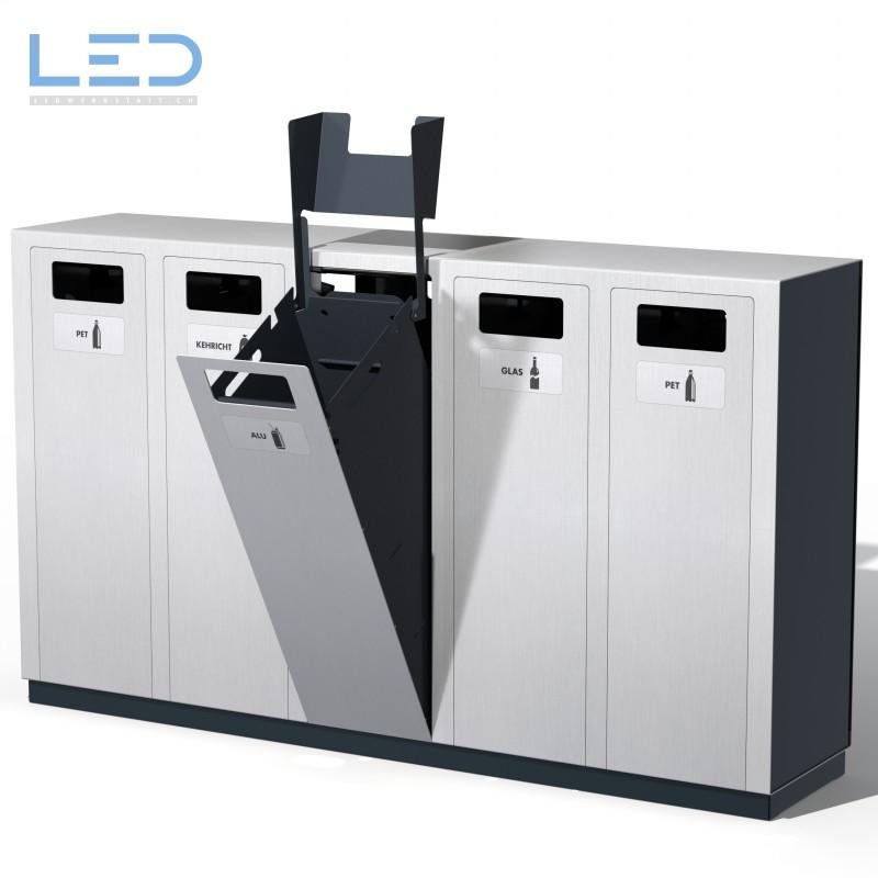 Recyclingstation W5, Abfallbehälter, Wertstoffbehälter, landscape furniture
