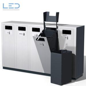 Recyclingstation W5, Abfallbehälter, Wertstoffbehälter W5, Recycling Behälter, 110l