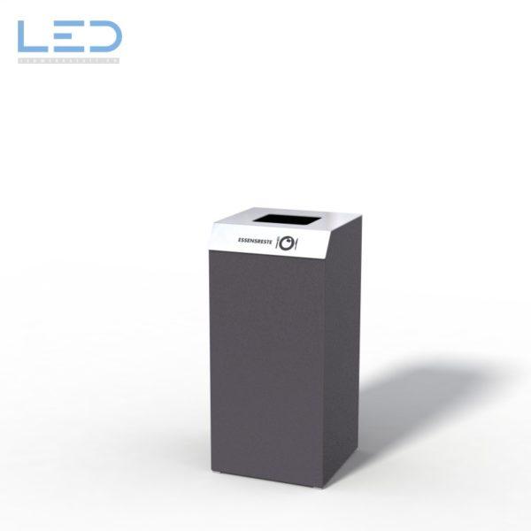 Recyclingstation C1-Bin, Design Abfallbehälter, Wertstoffbehälter, Waste Bin, Abfalltrenner, 110l, Edelstahl, Schwarz, DB703, Recycling Station, Büro, Innen, Drinnen, Innenraum, Entsorgung, waste management