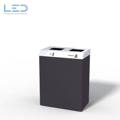 recycle bin Recyclingstation CC-Bin, Wertstoffbehälter, Büro, Office, Black, Schwarz, Abfallbehälter, PET, Abfall, Alu