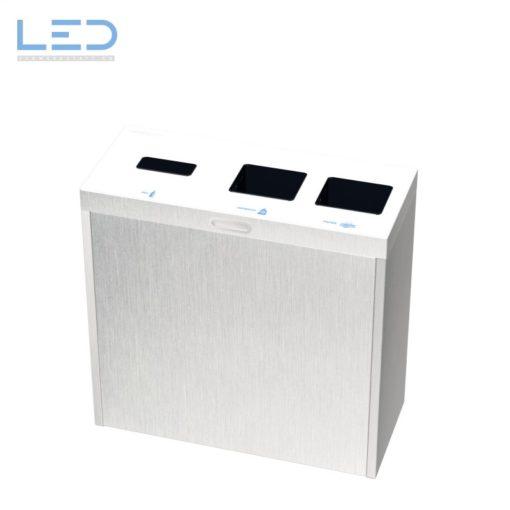 Recyclingstation Multilith 3.0 Inox, Abfallbehälter Edelstahl, Recycling, Waste bin, Edelstahl, Chromstahl, Comodo