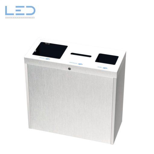 Recyclingstation Multilith 3.0 Inox, Abfallbehälter Edelstahl, Recycling, Waste bin, Edelstahl, Chromstahl