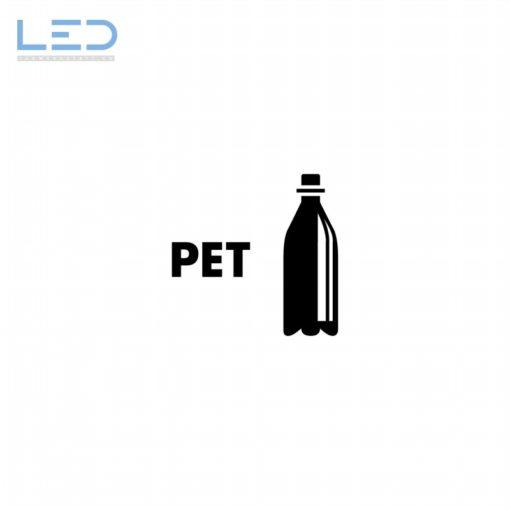 PET Symbol, Signet Beschriftung Recyclingstation