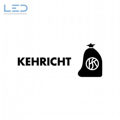 Kehricht, Abfall Symbol, Signet Beschriftung Recyclingstation