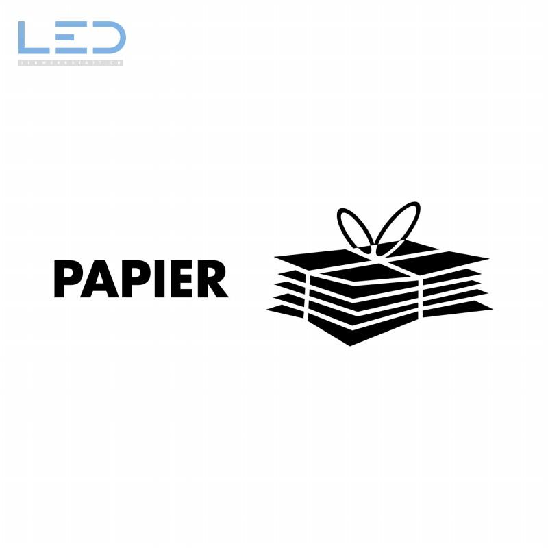 Papier Symbol, Signet Beschriftung Recyclingstation