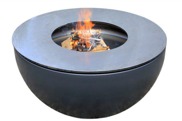 Feuerschale Antrazith, Metallico, Fuego, Raummobiliar, Metall, Edelstahl, Inox, Chromstahl