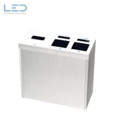Entsorgungsbox , Recycling Station, Recyclingstation Multilith 3.0 Inox, Recyclingbox, Recycling Box, Abfallsystem, Abfallbehälter, Entsorgungssystem, Edelstahl