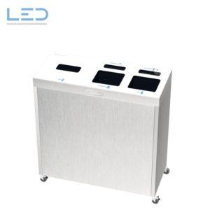 Recyclingstation Multilith 3.0 Inox, Wertstoffbehälter Edelstahl, Multilith 3.2 Inox
