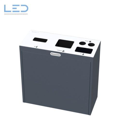 Recyclingstation Multilith 3.1, Wertstoffbehälter, Wertstofftrenner, Waste Bin, Recycling Station, Büro, 110l, Bechersammler
